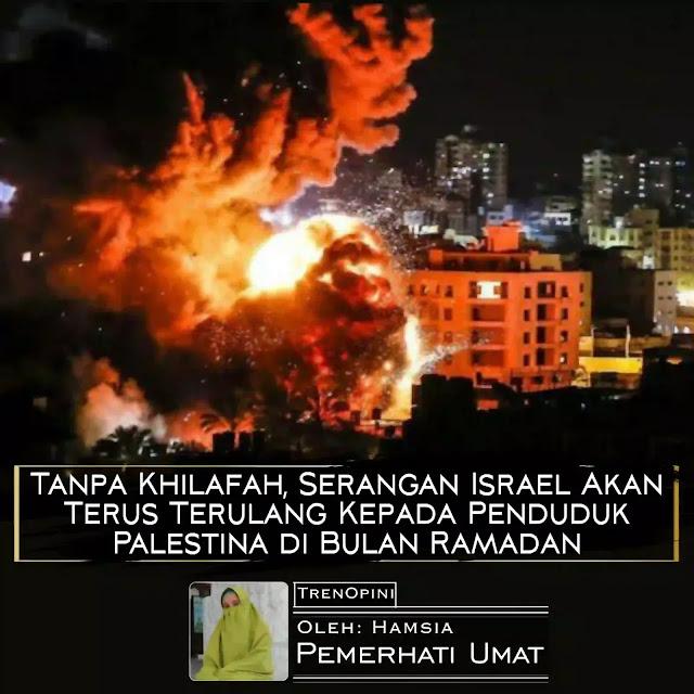 Ketenangan untuk menunaikan ibadah puasa pada Ramadhan 1441 H tampaknya belum bisa dirasakan warga Jalur Gaza, Palestina. Mereka diliputi was-was karena gempuran rudal dari militer Israel pada Jumat pagi (16/4/2021)