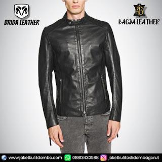 jaket kulit sintetis pria