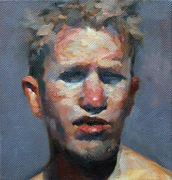 Stefán Boulter, Self Portrait, Portraits of Painters, Fine arts, Painter Stefán Boulter