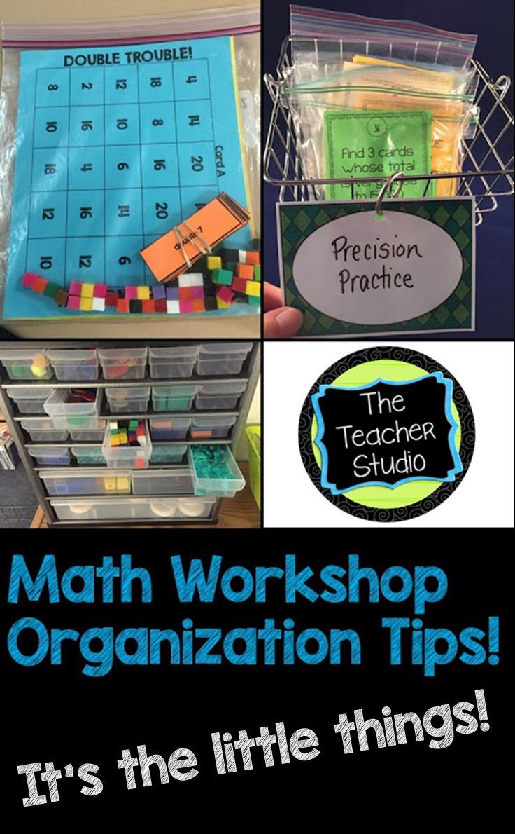Math Workshop Tips! | The Teacher Studio: Learning, Thinking, Creating