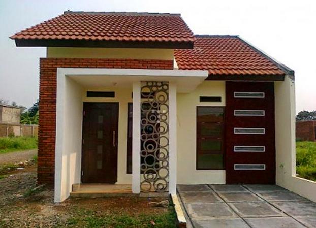 contoh gambar desain rumah type 45 minimalis terbaru