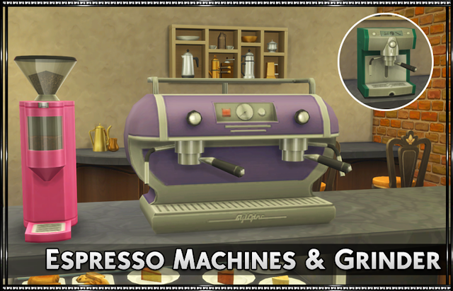 Espresso Machines & Grinder Recolors
