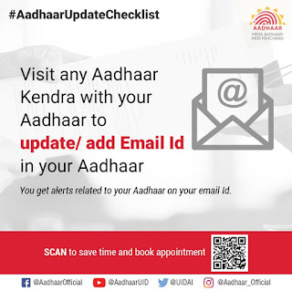 No document required to update, add email ID to your Aadhaar