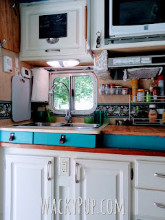 Amazing Mod Fixes a Low Sink - End Backaches - Genius! Wacky Pup DIY Tutorials for Small Spaces