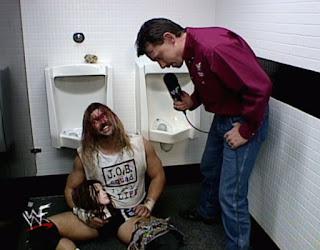 WWE / WWF - Backlash 1999 - Michael Cole interviews Al Snow backstage