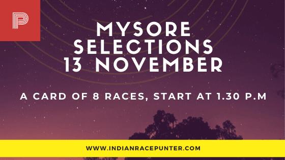 Mysore Race Selections 13 November