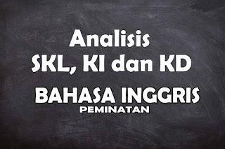 Analisis SKL KI dan KD Bahasa Inggris Peminatan SMA Tahun 2021