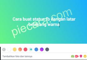 CARA BARU MEMBUAT STATUS FACEBOOK DENGAN LATAR BELAKANG