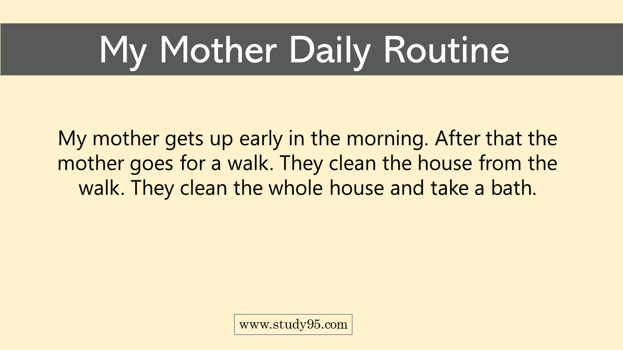 Daily Routine of a working Mother
