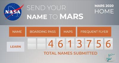 ناسا NASA تتيح لك إرسال إسمك ليبقى على سطح المريخ Mars في شريحة تخزين