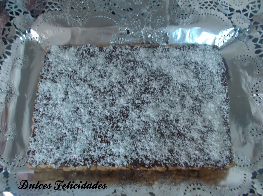Tarta de galletas y chocolate