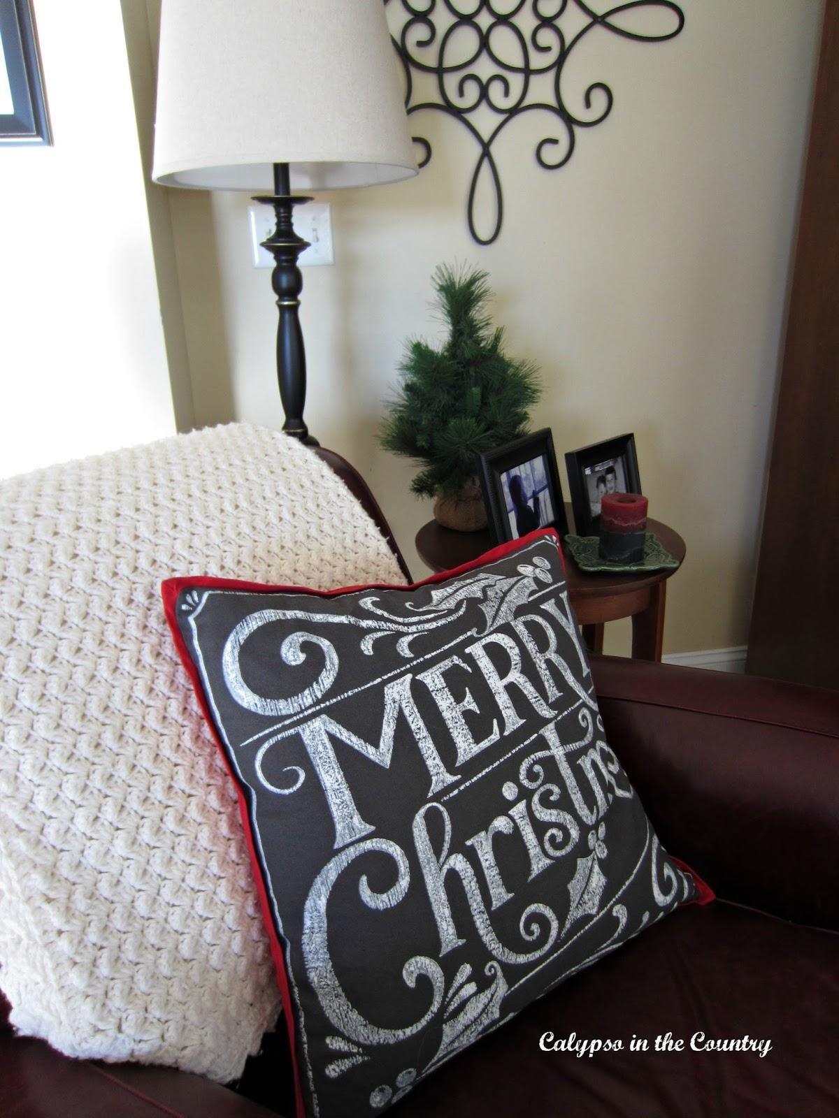 Pottery Barn Merry Christmas Pillow