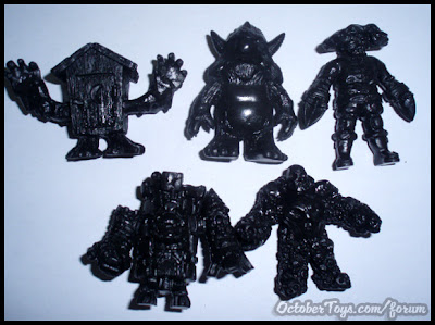 OMFG! Mini Figure Series 1 Kickstarter Exclusive Black Set by October Toys