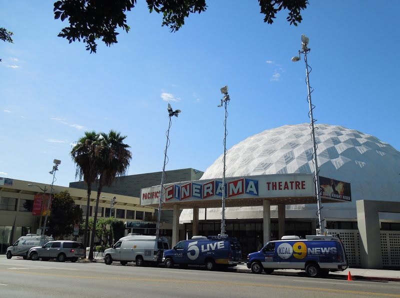 News vans Cinerama Dome