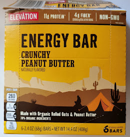 Box of Elevation Crunchy Peanut Butter energy bars