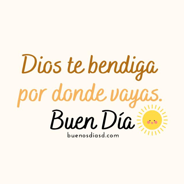imagen de Dios te bendiga buen dia