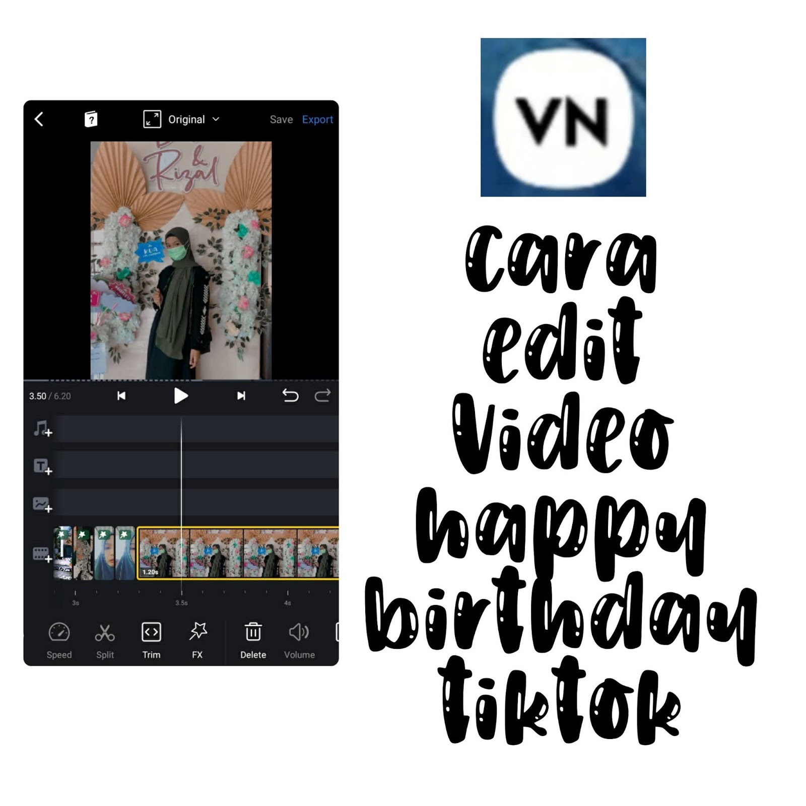 cara edit video happy birthday ala
