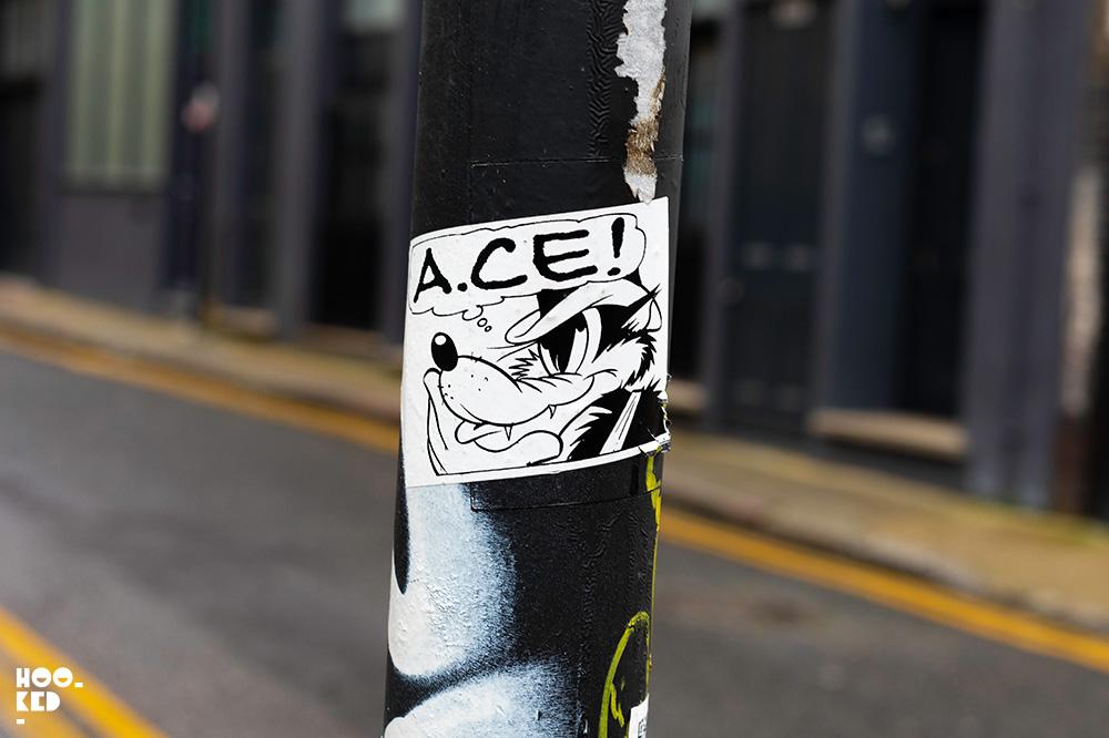 Shoreditch Street Art Stickers featuring artist Acelondon