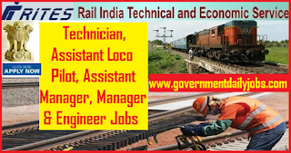 RITES Limited Recruitment 2018 Apply Online for 63 Asst Loco Pilot & Other Jobs