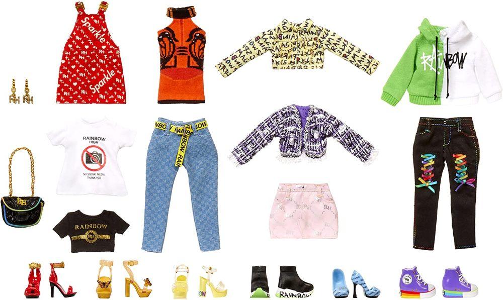 Одежда и обувь куклам Rainbow High Deluxe Fashion Closet