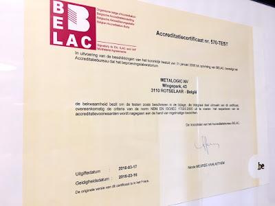 ISO17025 accreditation