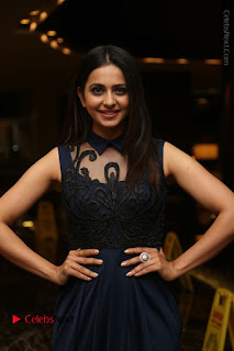 Actress Rakul Preet Singh Stills in Beautiful Blue Long Dress at Dhruva Salute to Audience Event  0029.JPG