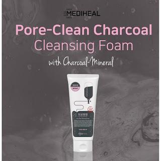 MEDIHEAL Pore Clean Charcoal Cleansing Foam