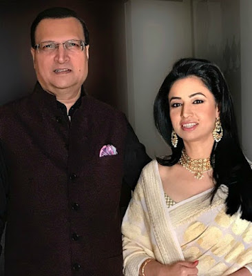 Ritu Dhawan with her husband Rajat