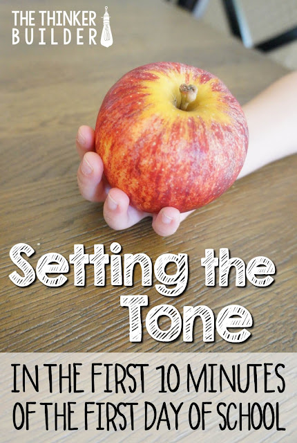 You CAN set a calm, positive, hard-working classroom tone right away--like literally, in the first ten minutes of the first day of school! Come read how. (The Thinker Builder)