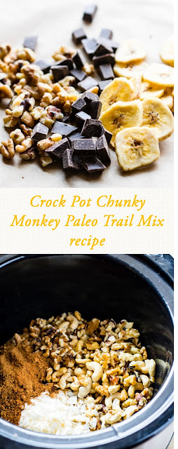 crock pot chunky monkey paleo trail mix recipe