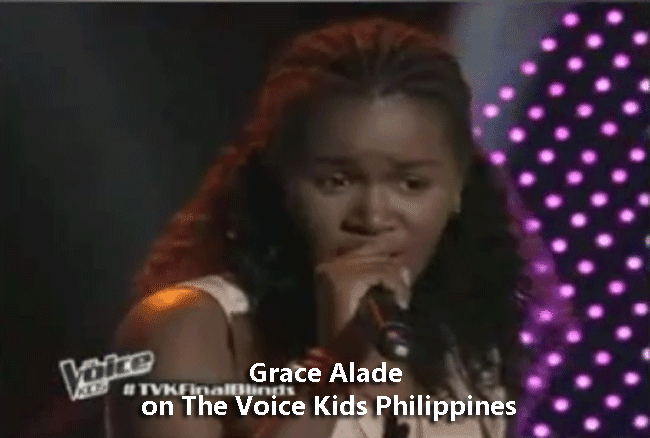 Grace Alade on The Voice Kids Philippines