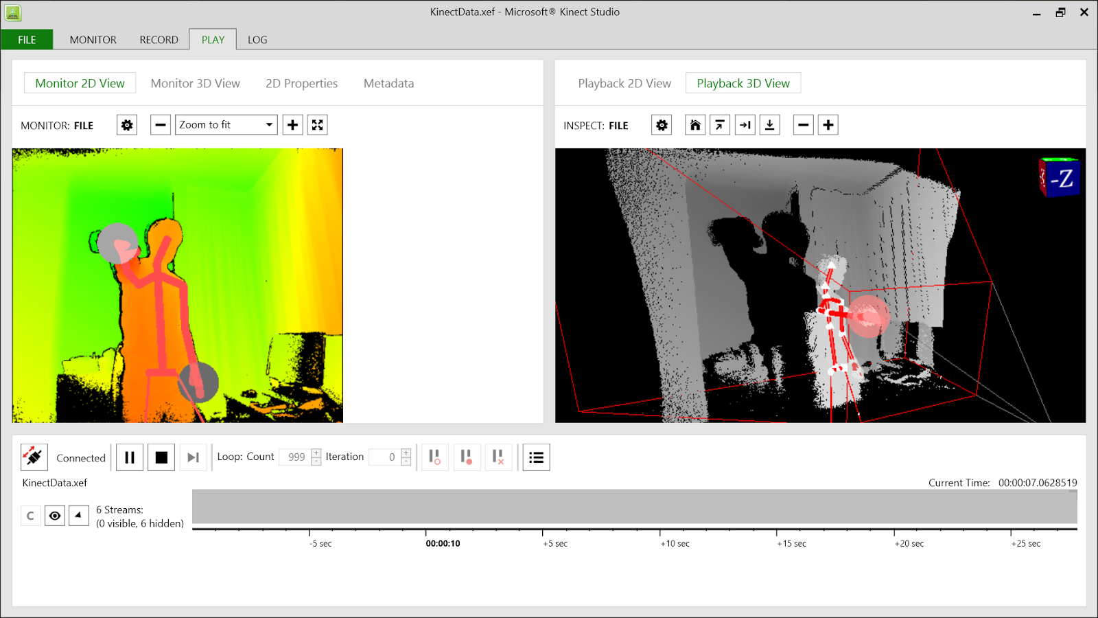 Programophone: Extracting data from Kinect V2  xef files
