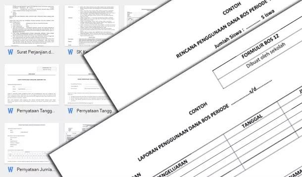 Contoh Berkas Lampiran Kelengkapan SPJ BOS