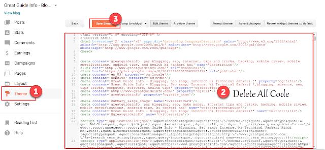 apni tamplate ka xml code past kare