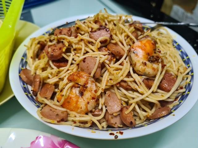 Resepi Spaghetti Aglio Olio Seafood by Suzie