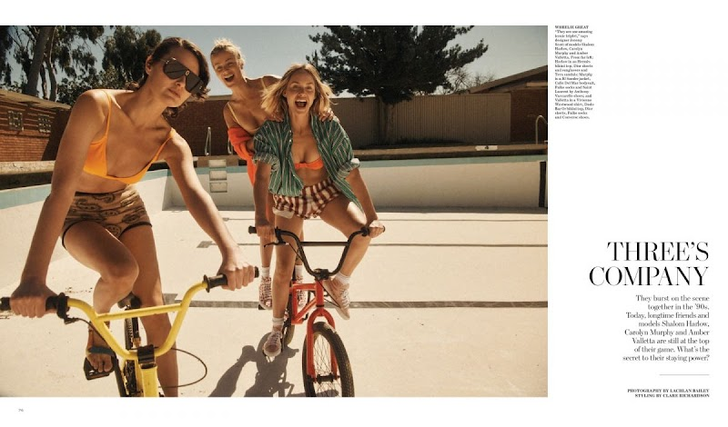 Carolyn Murphy, Amber Valletta, Shalom Harlow  Featured in WSJ Magazine - May 2021
