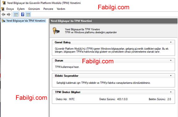 Bilgisayarda TMP 2.0 Özelliği Nasıl Açılır? Windows 11 TPM