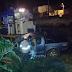 Trem de carga e caminhonete batem na cidade de Conceição do Coité