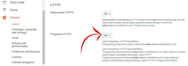 Pengalihan HTTPS custom domain