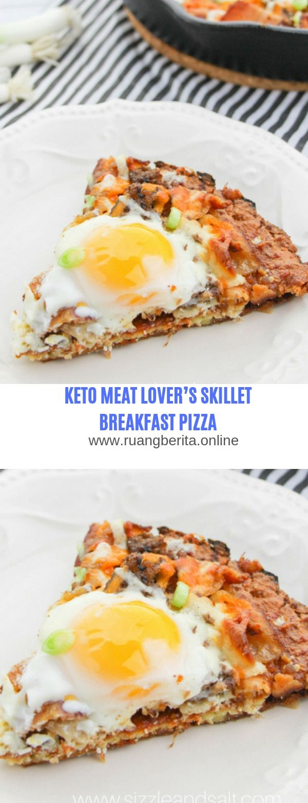KETO MEAT LOVER'S SKILLET BREAKFAST PIZZA