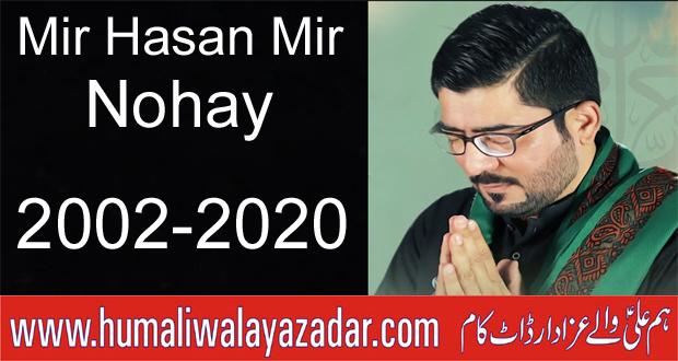 Mir Hasan Mir Nohay 2002 to 2020 ~ hum ali walay azadar
