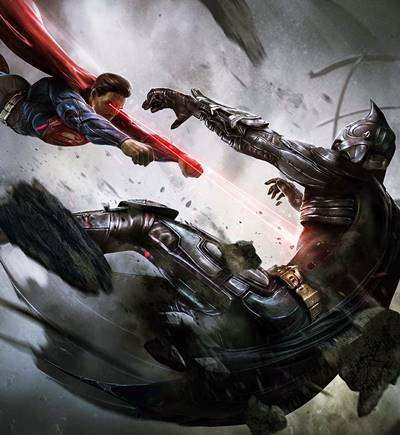 En Injustice, Superman mata a Batman