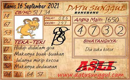 Prediksi Datu Sunggul Togel Hongkong Kamis 16 September 2021