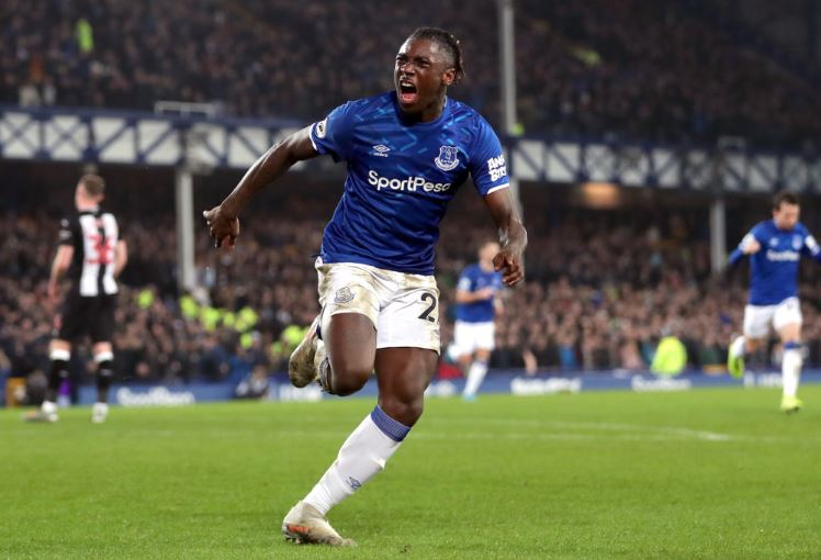 Everton striker Moise Kean