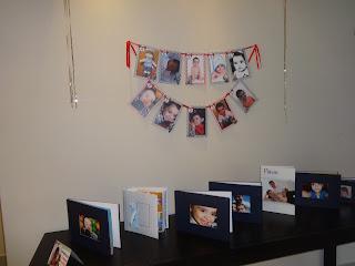 Mesa de Fotos - Retrospectiva infantil