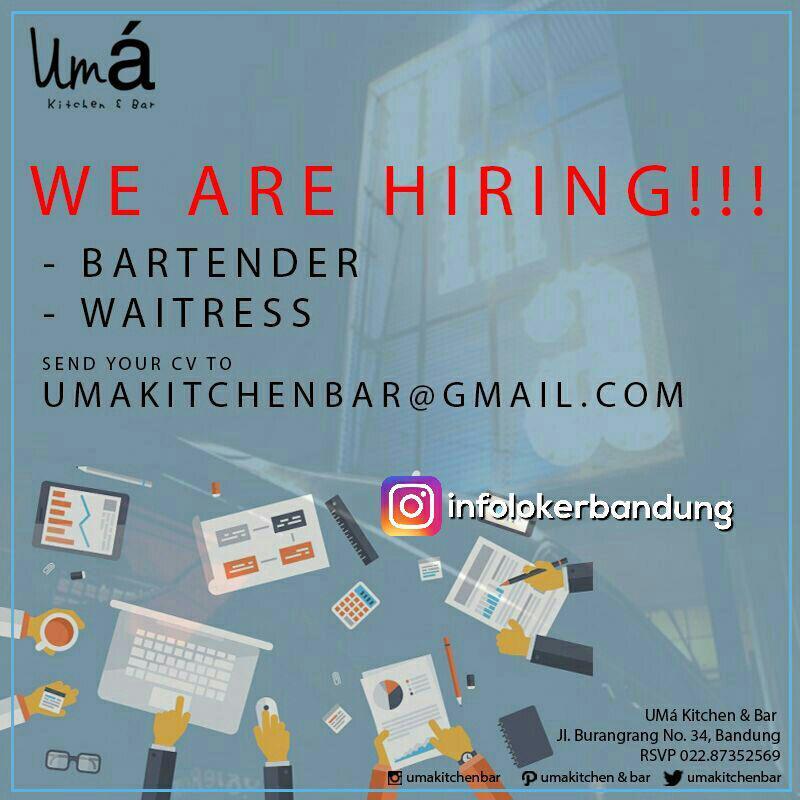 Lowongan Kerja Uma Kitchen & Bar Agustus 2017