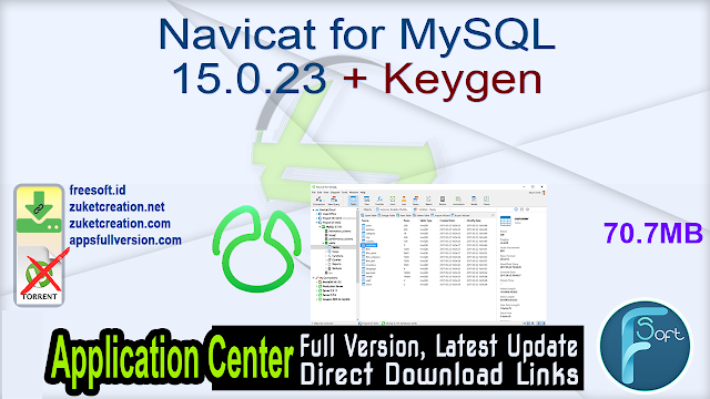 Navicat for MySQL 15.0.23 + Keygen