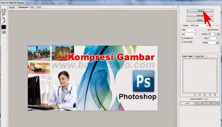 Cara Kompres Gambar Dengan Photoshop