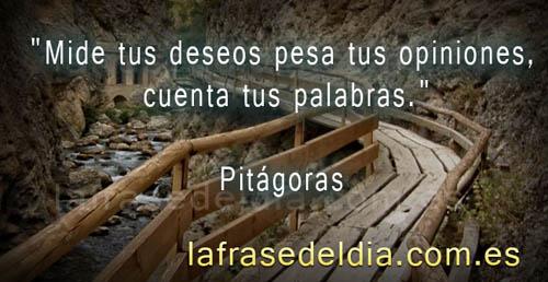 Frases sobre deseos, Pitágoras