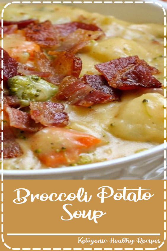 This thick and creamy soup is full of delicious vegetables including broccoli Broccoli Potato Soup